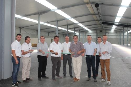 Inauguration d'une plateforme de compostage à Beaupréau (49)