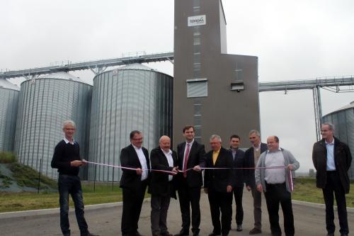 Terrena inaugure un silo à Saint Léger de Montbrillais (86)